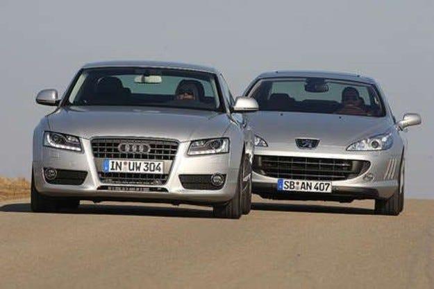 Audi A5 срещу Peugeot 407