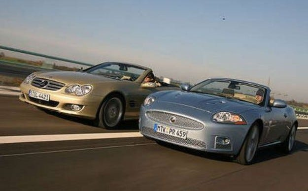 Jaguar XKR Cabrio vs. Mercedes SL 500