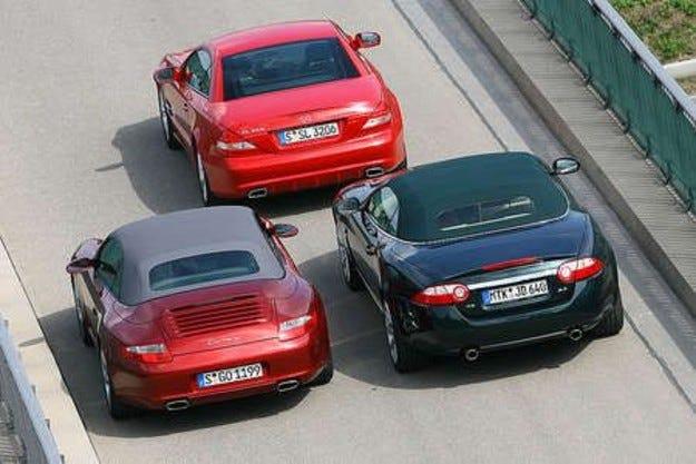 Jaguar XK, Porsche Carrera & Mercedes SL