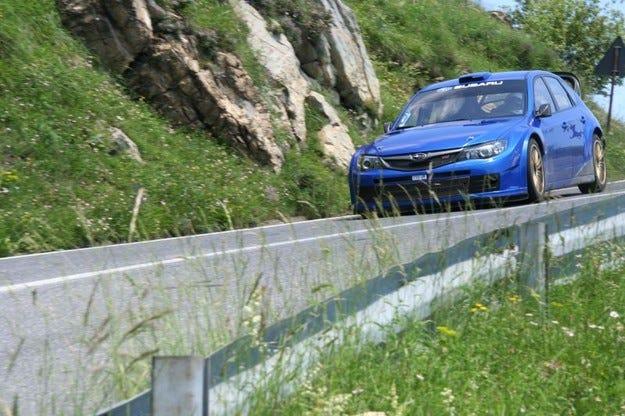 Subaru Impreza WRC2008 тестове на асфлат
