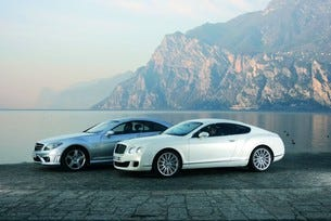 Bentley Continental GT Speed срещу  Mercedes CL 65 AMG
