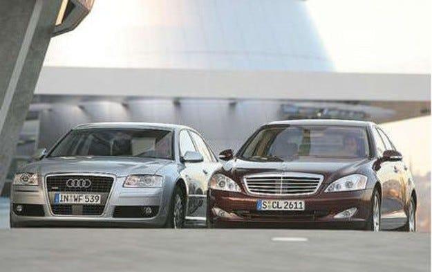 Mercedes S 450 срещу Audi A8