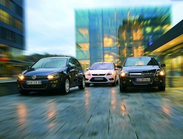 Ford Focus 2.0 TDCI, Opel Astra 1.9 CDTI, VW Golf 2.0 TDI