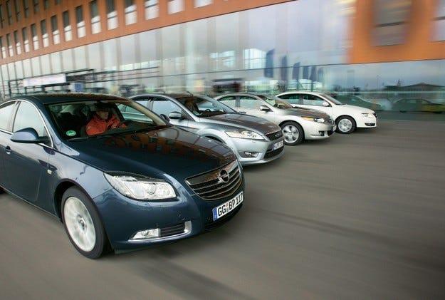 Opel Insignia, Ford Mondeo, Honda Accord, VW Passat
