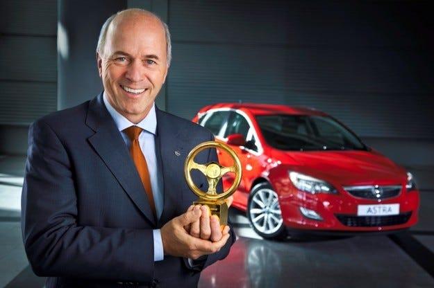 Opel Astra Goldene Lenkrad
