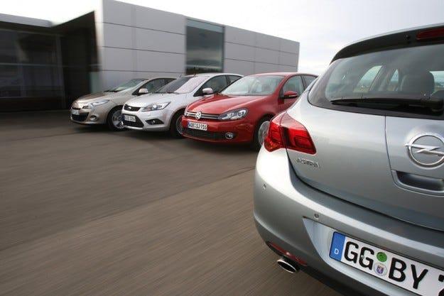 Ford Focus, Opel Astra, Reanult Megane, VW Golf