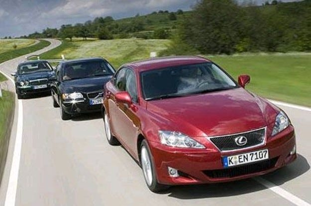 Lexus IS 220d vs. Volvo S60 D5 vs. Jaguar X-Type 2.2D