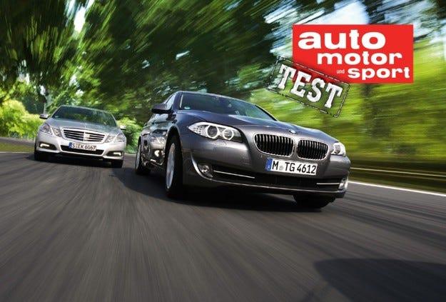BMW 535i срещу Mercedes E 350 CGI