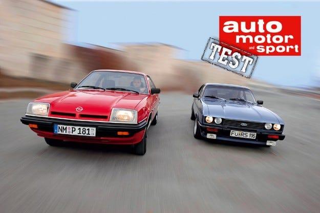 Ford Capri 2.3 S срещу Opel Manta 2.0 L