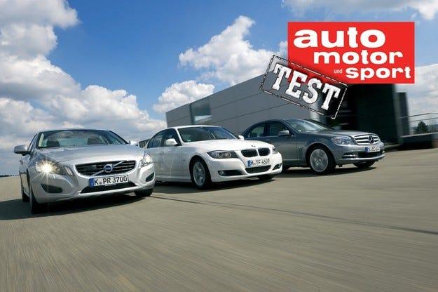 BMW 320D, Mercedes C 220 CDI, Volvo S60 D3