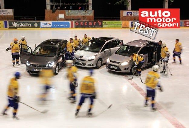Ford Grand C-Max, Peugeot 5008 и VW Touran