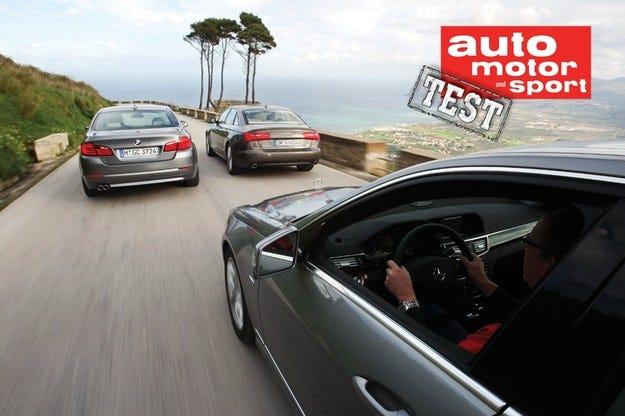 Audi A6 3.0 TDI, BMW 530d и Mercedes E 350 CDI