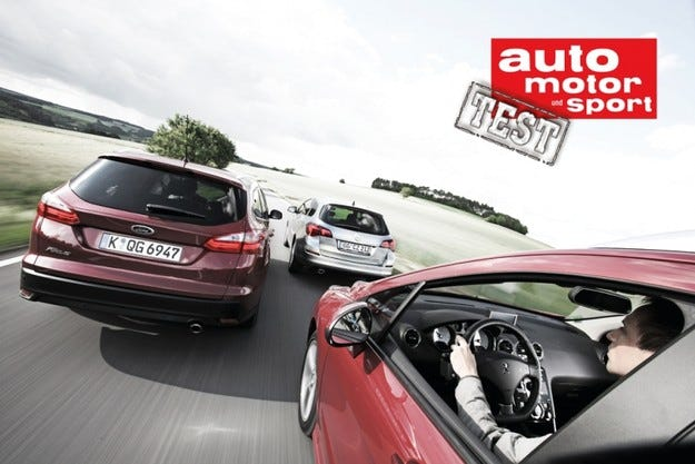Ford Focus Turnier, Opel Astra ST и Peugeot 308 SW