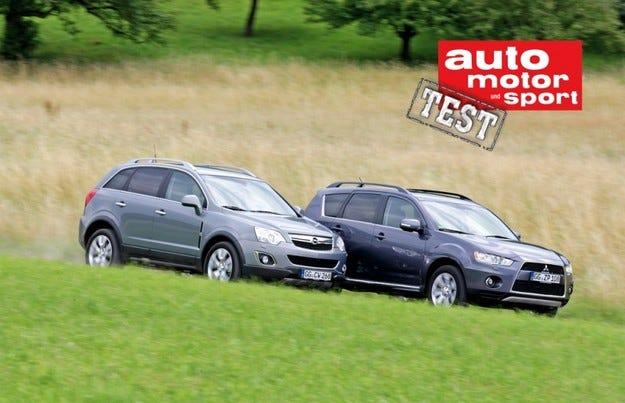 Opel Antara срещу Mitsubishi Outlander