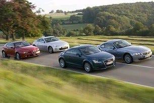 Audi TТ vs. BMW Z4 Coupe vs. Nissan 350 Z vs. Alfa Brera