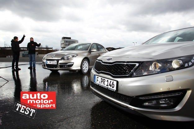 Kia Optima срещу Renault Laguna