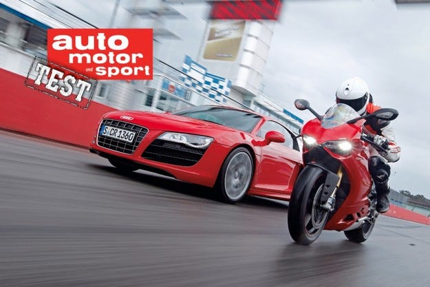 Audi R8 и Ducati Panigale