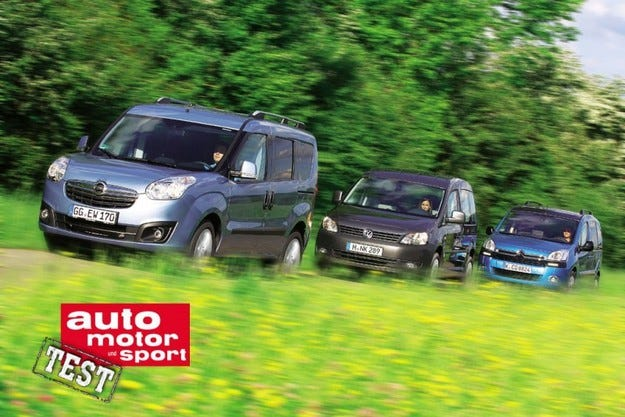 Citroеn Berlingo, Opel Combo и VW Caddy
