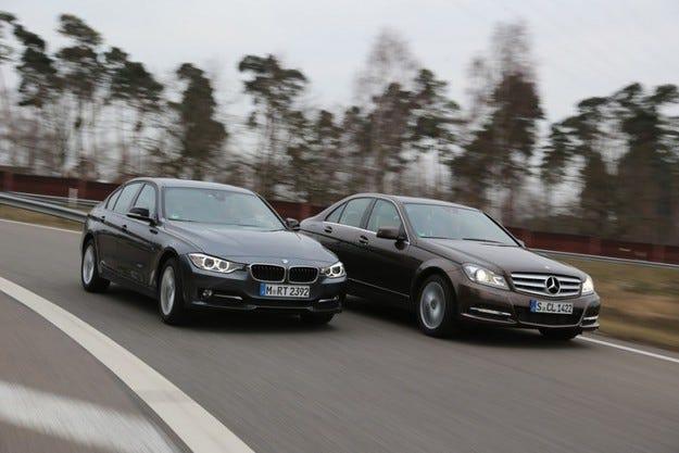 BMW 316d срещу Mercedes C 200 CDI
