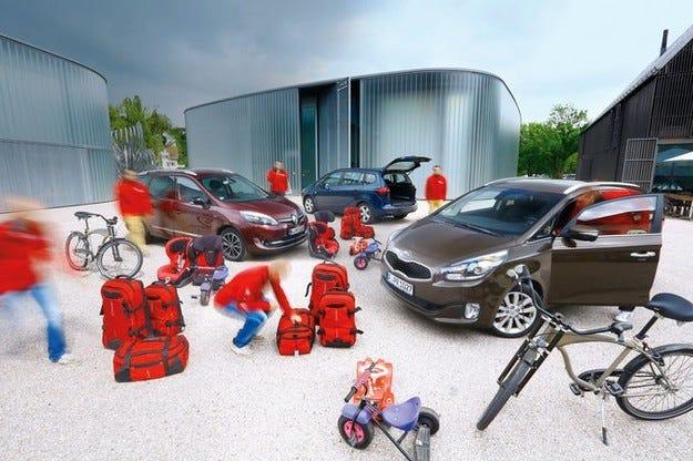 Kia Carens, Opel Zafira Tourer, Renault Grand Scenic