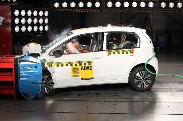 VW E-Up в краштест на EuroNCAP