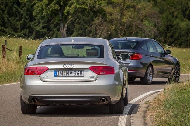 BMW 335i Graх Turismo срещу Audi A5 Sportback 3.0 TFSI