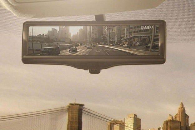 """Nissan с """"умно"""" вътрешно огледало"""