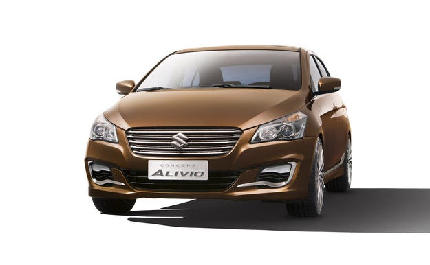 Седанът Suzuki Alivio все по-близо до серийно производство