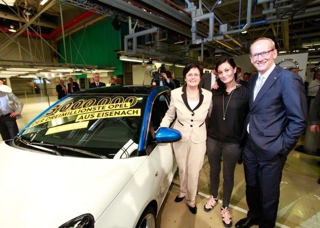 Тримилионният автомобил от Айзенах е Opel ADAM