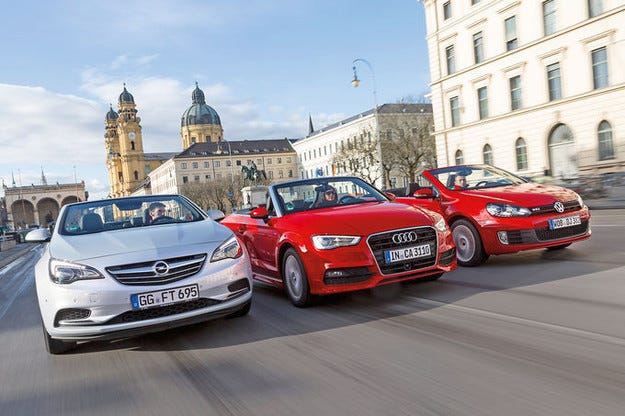 Audi A3 Cabrio, Opel Cacada, VW Golf Cabrio