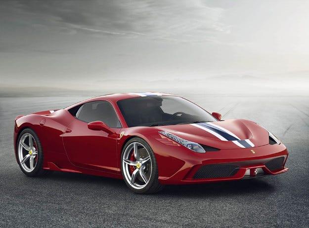Обновеното купе Ferrari 458 Italia ще получи нов турбомотор