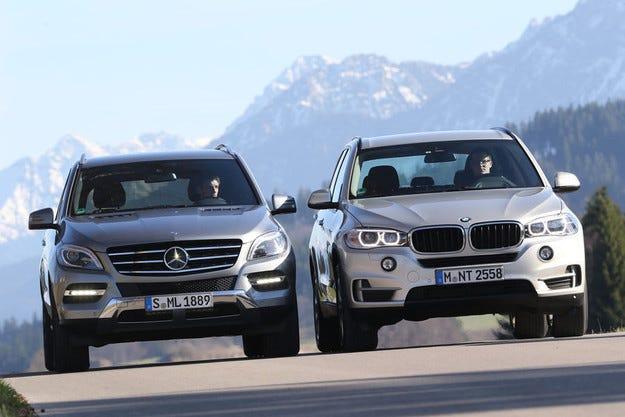 BMW X5 xDrive 25d срещу Mercedes ML 250 Bluetec