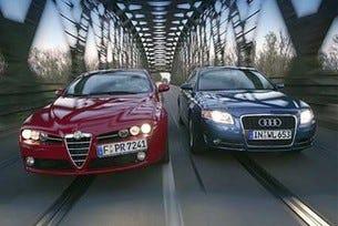 Alfa 159 2.4 JTDM vs. Audi A4 2.7 TDI