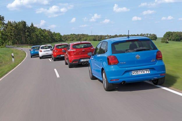 Ford Fiesta, Kia Rio, Peugeot 208, Renault Clio, VW Polo