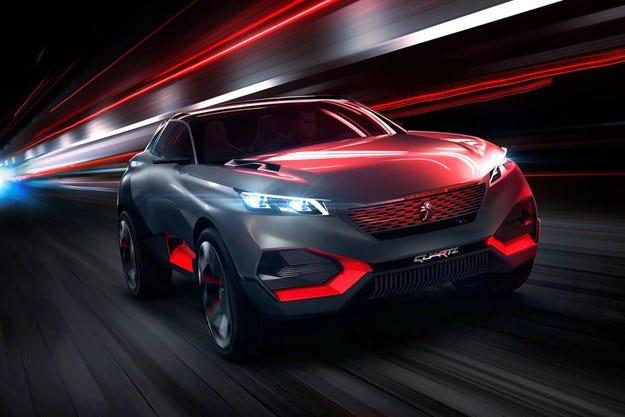 Peugeot представя концепция на хибриден SUV