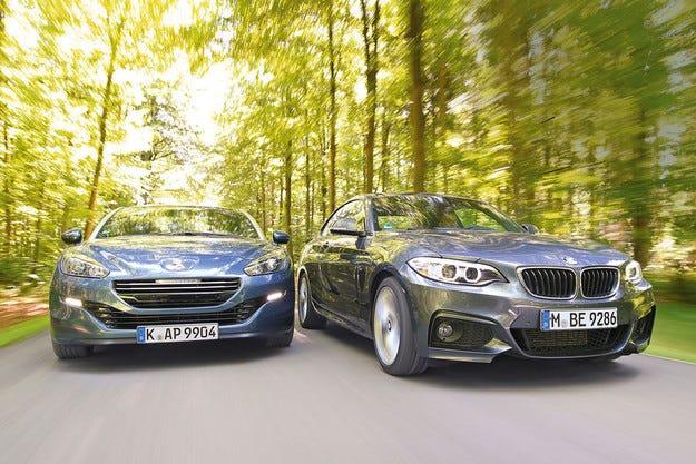 BMW 220d и Peugeot RCZ 2.0 HDi 160: Две купета за икономично удоволствие