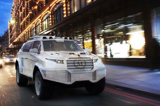 Dartz Prombron Black Shark: Брониран  SUV за уличната война
