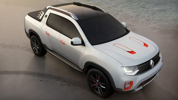 Dacia представи в Сао Пауло пикапа Duster Oroch