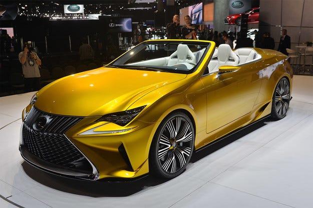 Lexus показа концепт на кабриолета RC в Ел Ей