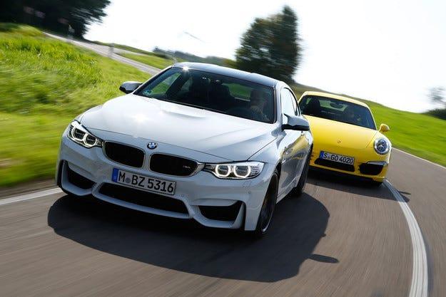 BMW M4 срещу Porsche 911 Carrera S