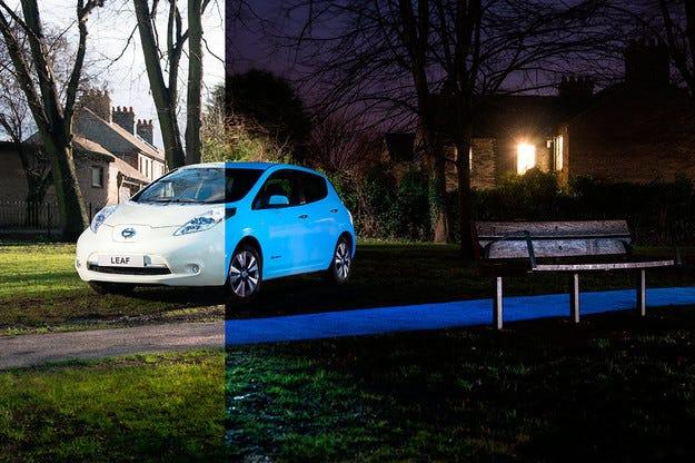Компанията Nissan прави автомобилите да светят на тъмно