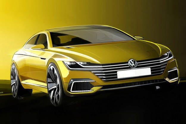 Volkswagen пусна първи скици на бъдещия Passat CC