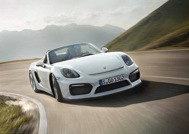 Porsche Boxster Spyder с мотор от 911 Carrera S Coupe