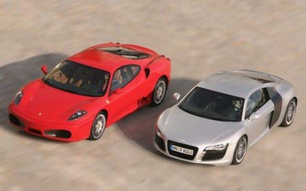 Audi R8 vs. Ferrari F430
