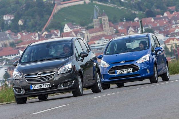 Ford B-Max 1.6 TDCi срещу Opel Meriva 1.6 CDTI