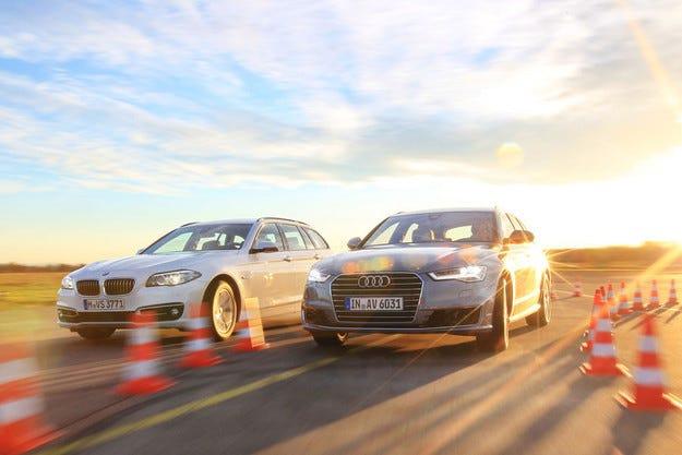 Audi A6 Avant 2.0 TDI Ultra срещу BMW 520d Touring