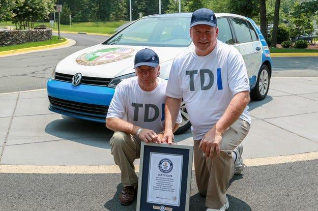 Дизелов Volkswagen Golf пресече САЩ с нов рекорд