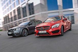Mercedes CLA Shooting Brake срещу Skoda Octavia Combi RS