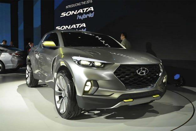 Hyundai пуска в производство пикапа Santa Cruz