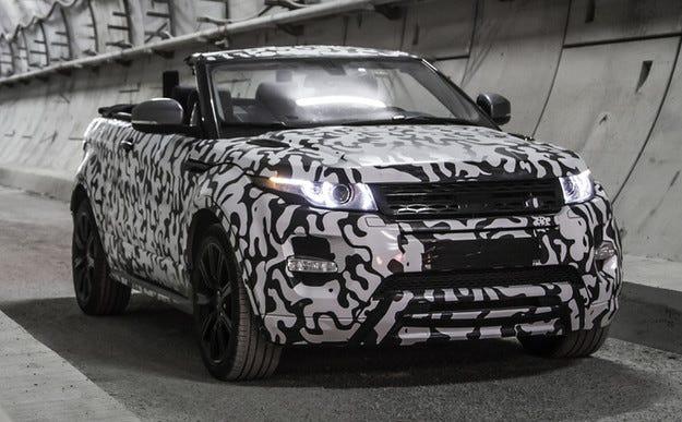 Тестват кабриолета Range Rover Evoque на Нюрбургринг